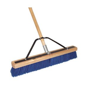 """DQB 24"""" STEEL BLUE HD POLY SWEEP WITH HANDLE"""