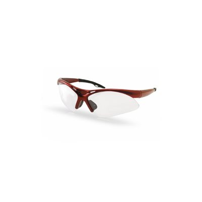 Diamondback Safety Glasses - Red Frame Clear